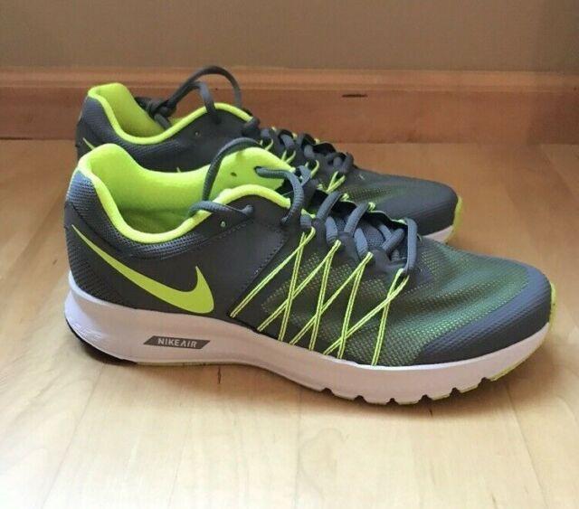 Nike Air Men's Relentless 6 GreyVoltBlack Running Shoes Size 8.5