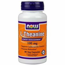 Now Foods, L-Theanine Stress Management 100 mg 90 Vcaps 07/2019 EXP
