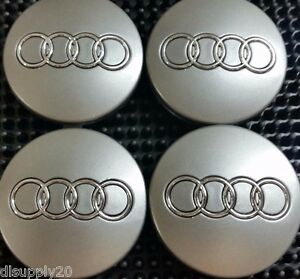 A4 Audi Wheel Center Cap Black Chrome Logo 60 MM S4 A8 Fit A3 A6 Q7 TT