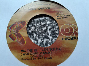 Danny-Harrison-45-Ma-The-Kettle-039-s-Boiling-I-Don-039-t-Believe-in-If-Rare-Reggae