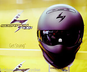 SCORPION-EXO-COMBAT-MATT-BLACK-MOTORCYCLE-HELMET-STREET-FIGHTER-HELMET