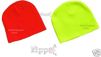 "Sportsman Knit 8/"" Cap SP08 Blaze Orange or Safety Yellow Beanie"