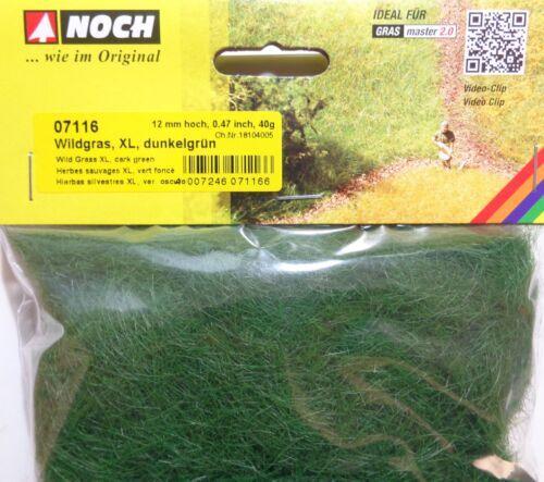 hauteur 12 mm NEUF 40 g Sachet 17,48 €//100 g encore 07116 Wildgras XL Vert Foncé