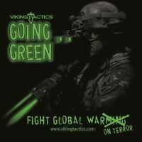 Vtac Viking Tactics Shirt - Going Green - Black S/sleeve - Only Small Available