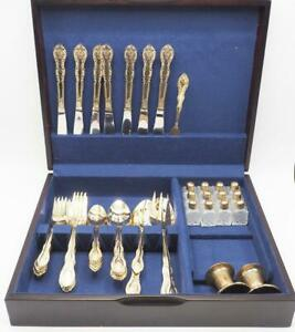 International-Silver-IS-Stainless-Flatware-Abigail-Pattern-58-Pieces