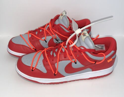 off-white x nike dunk low university red Size 12