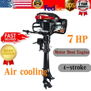 Hangkai 4stroke 7hp Outboard Motor 196cc Fishing Boat Engine W Air Cooling Syste Ebay