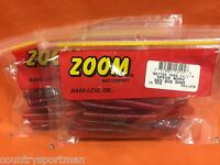 Zoom Speed Worm (15cnt) 051-270 Red Bug Shad (2 Pcks)