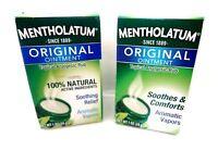 2 Mentholatum Ointment Topical Analgesic Rub 1 Oz Each