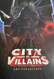 Vintage Poster Art Print City Of Villains And City Of Heroes Art Collection Lot2