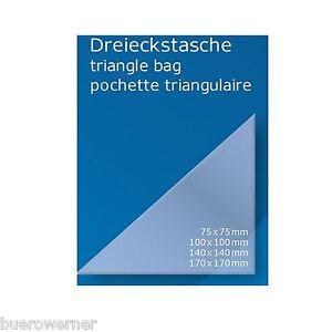 12-48-od-100-Dreiecktaschen-selbstklebend-Klebetasche-transparent-Sichttasche