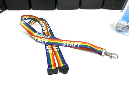 Staff Rainbow Lanyard with Safety Breakaway NHS Healthcare Staff