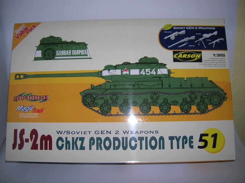 Dragon JS-2M ChKZ Production Type 51 Solid Tank 1 3 5 Kit Set 9151