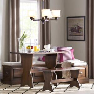 Cool Details About Dining Nook Corner Kitchen Set Wood Breakfast Table Storage Bench Booth Brown Ibusinesslaw Wood Chair Design Ideas Ibusinesslaworg