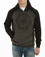 Guinness Charcoal Grey & Black Pullover Hoodie Mens Irish Ireland Jacket