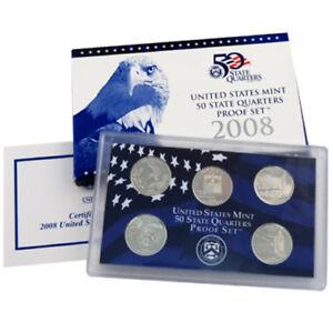 2007 S US Mint America Beautiful Quarter Proof CLAD 5 Coin Set Box COA OGP