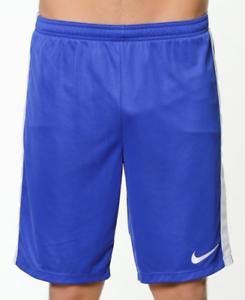Nike Dry Academy Soccer Shorts Blue White Drawstring 832508-452 $25 Mens XL 2XL