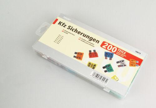 200 Kfz Sicherungen im Set 5-30 A 19 mm Auto Flachsicherungen Sortiment Tifler