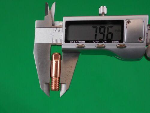1.2mm FLUXCORE Contact Tip 1.2mm Shelf Shielding MIG Guns K126//264 ZB3112  25Pcs