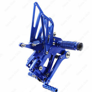 CNC Adjustable Rearsets Rear Sets Foot Pegs For BMW S1000RR/ HP4 2009-2014 Blue