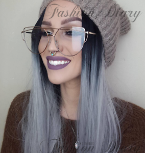 9543213d92b Image is loading CLEAR-LENS-OVERSIZED-AVIATOR-GOLD-FASHION-BLOGGER-TRENDY-
