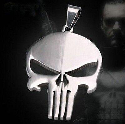 Fashion Men's Jewellery Punisher Skull Frank Castle Steel Necklace Pendant Hot