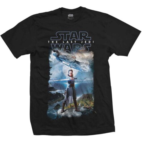 Star Wars Last Jedi Ray Millennium Falcon Official Episode 8 Black Mens T-shirt
