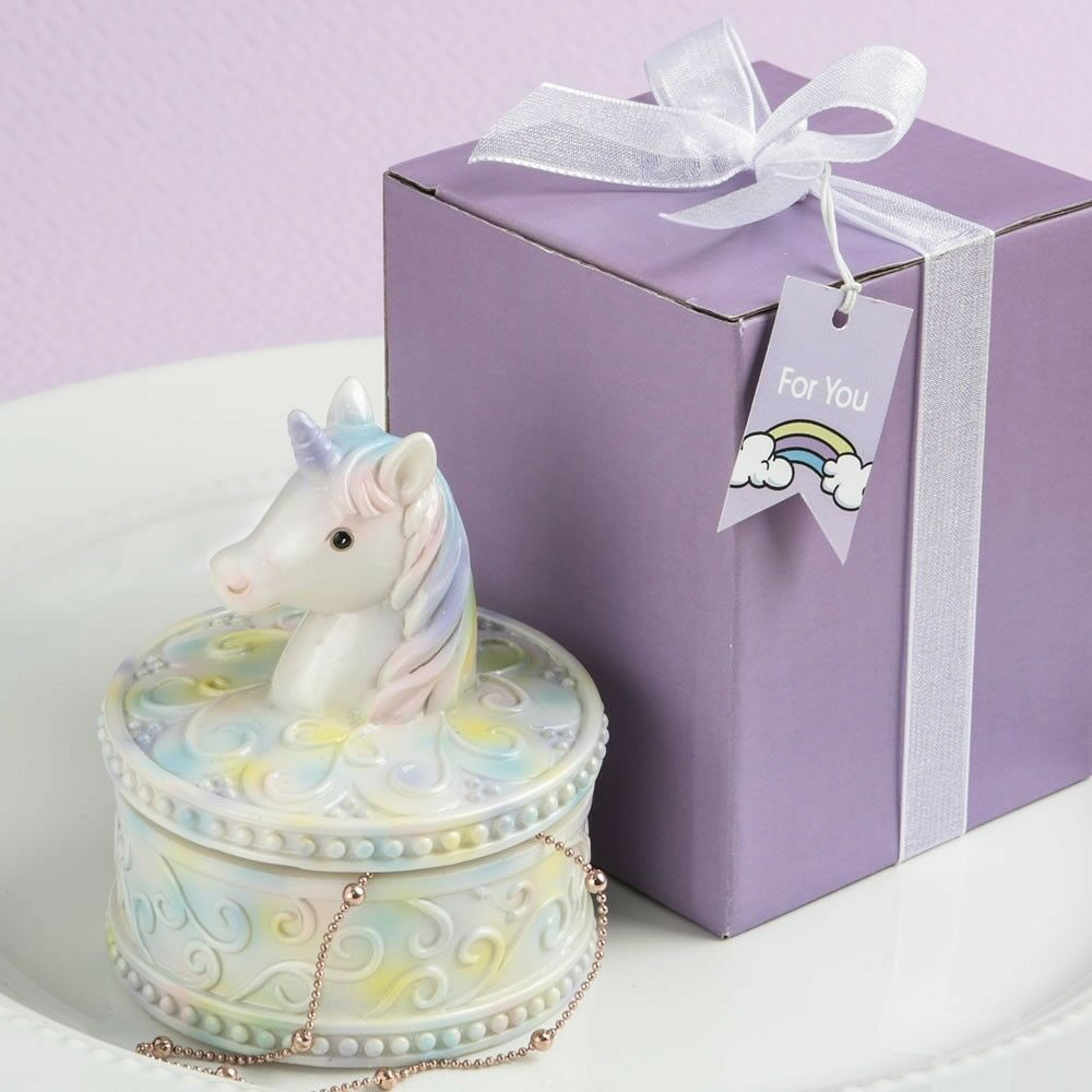 40 Delightful Fairytale Unicorn Jewelry Boxes Baby Shower Birthday Party Favors