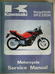 kawasaki gpz250r 1986 1987 work shop manual gpz250 ninja ex gpz rh ebay co uk kawasaki ninja 250r manual español kawasaki ninja 250r manual español