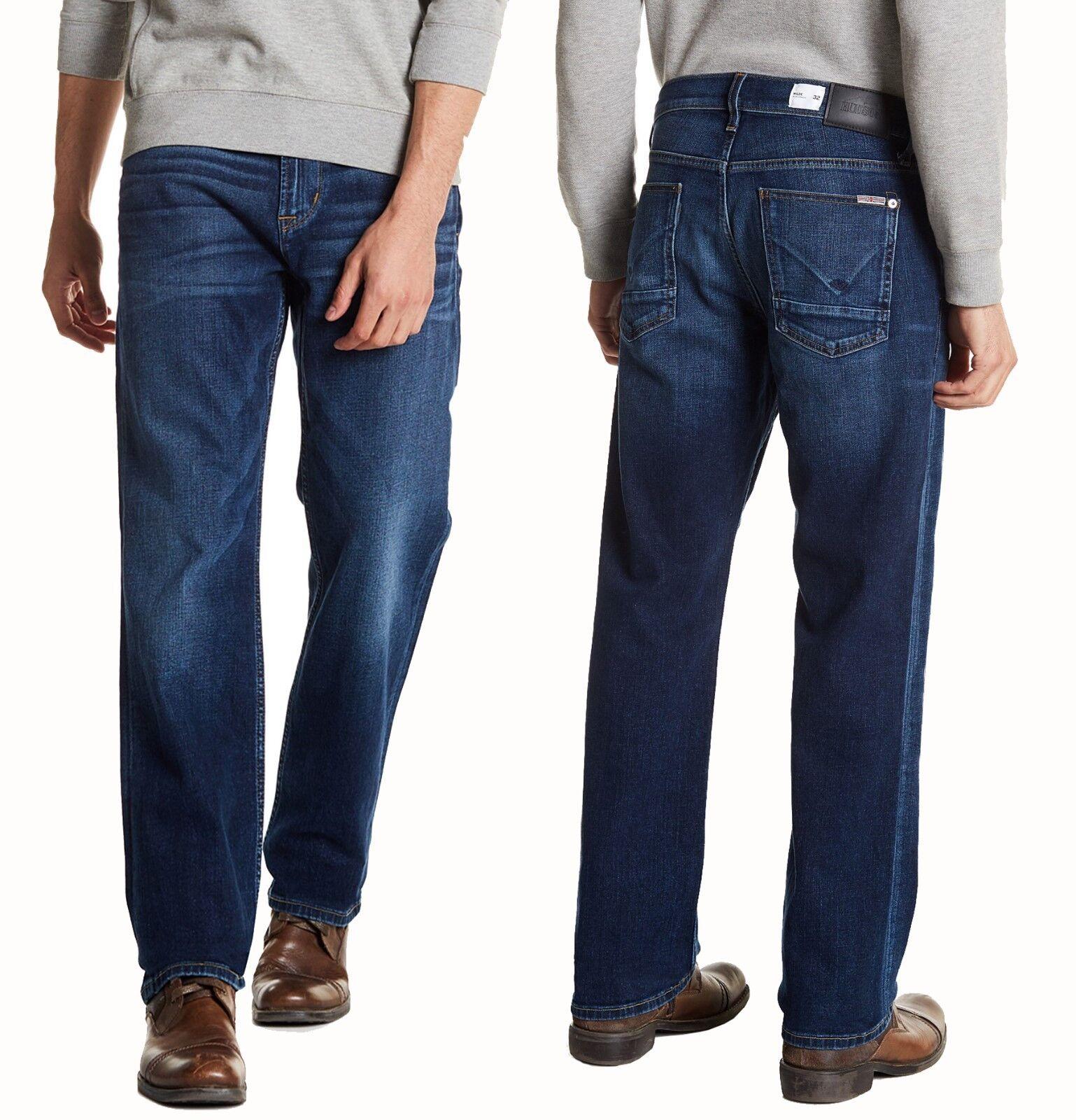 HUDSON Wilde Relax Straight bluee Denim Jeans 33X34  NWT