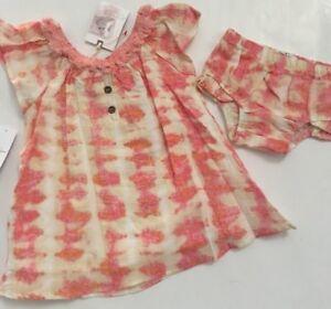 87bceb0c1732 Jessica Simpson Baby Girls Tie Dye Dres Set Size 12 18 24 Months ...