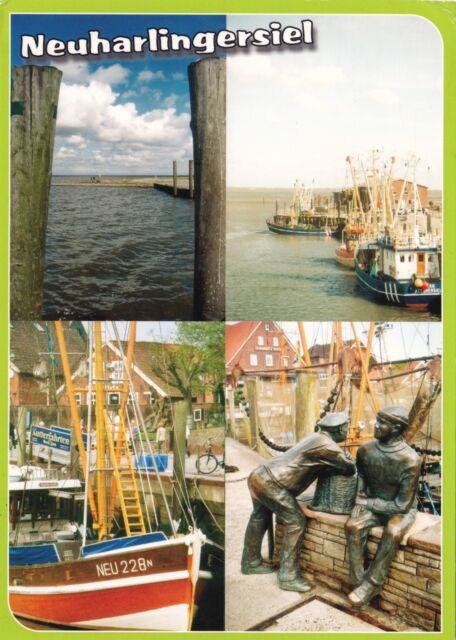 Neuharlingersiel , Ansichtskarte 2008 gelaufen