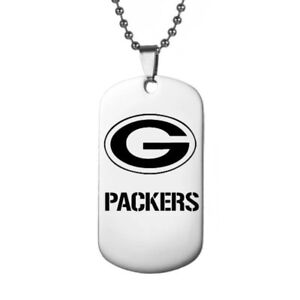 Green-Bay-Packers-Football-Team-Stainless-Steel-Pendant-With-Bead-Chain-Necklace