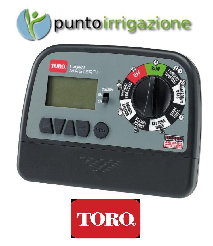 Programmatore centralina irrigazione elettronico Toro Lawn Master a 6 zone