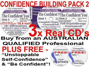3 CD s CONFIDENT YOU HYPNOSIS HYPNOTHERAPY SET SELF