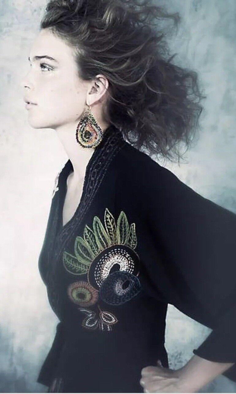 Anthropologie Guinevere Hanokotoba Kimono Style Cardigan Sweater Größe M