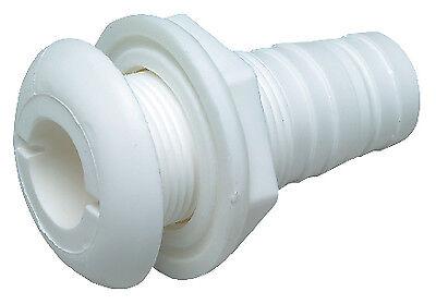 """Thru Hull Connector White Plastic 5//8/"""" Seachoice 18031"""