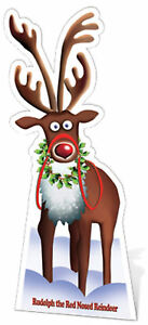 Rudolph The Red Nosed Reindeer 75x183 Cm Verkaufsrabatt 50-70% Weihnachten Ca Standy