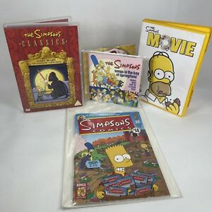 The Simpsons Bundle x2 DVD's Songs In The Key Of Springfield CD Bongo Comic 50