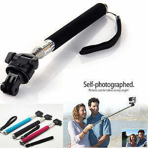 Extendable Handheld Pole holder Monopod+Tripod Adapter for Go pro HERO4 3+ 3 2 1