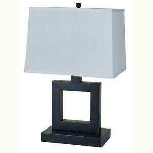 22-in-Square-Dark-Bronze-Table-Lamp-with-linen-shade