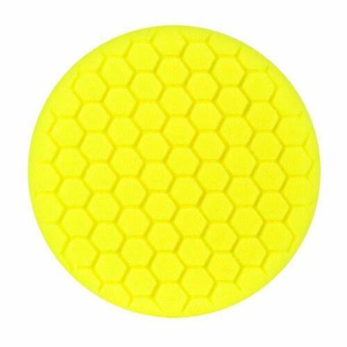 "Buff and Shine 8/"" US Yellow Light Cut//Polishing Hex Faced Foam Grip Pad# 830RH"