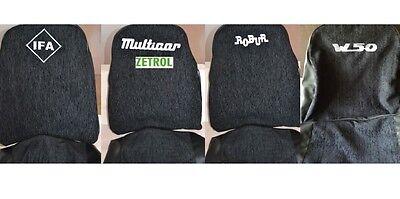 MULTICAR M25,M24 Maß Schonbezüge Sitzbezüge mit Aufschrift MULTICAR FARBE ROT