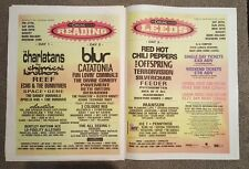 Reading Leeds Festival Blur 1999 press advert Full page 60 x 40 cm mini poster