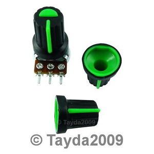 5-x-noir-Bouton-avec-Vert-pointeur-Haute-Qualite