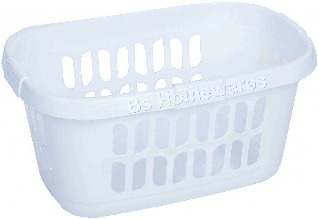 Plastic Laundry Washing Basket Bin Hipster Clothes Storage
