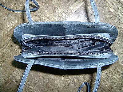 Handtasche Tasche Umhängetasche lange Henkel anthrazit ESTELLA Vintage