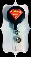 NEW AVENGER SUPERMAN LOGO ID Badge Retractable Reel Handmade NURSE TEACHER