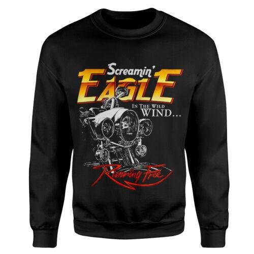Screamin Eagle Motorcycles Hoodie Free Retro Motor Biker Race Cafe Racer P430