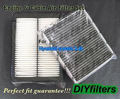 Combo Set Engine Amp Carbonized Cabin Air Filter For Sonata 2